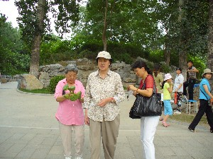 Judy and relatives at a Beijing Park